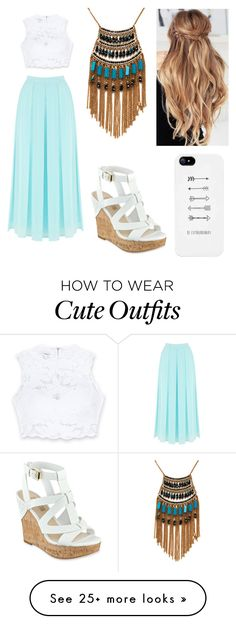 """My First Polyvore Outfit"" by perry251104 on Polyvore featuring Warehouse, Bebe, GUESS and Leslie Danzis"