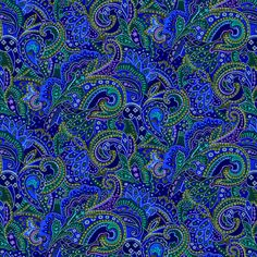 SugarTree - 12 x 12 Paper - Blue Paisley at Scrapbook.com $0.69