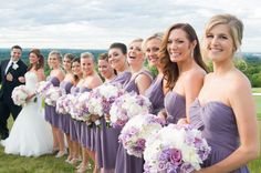 Love this angle!! The groom & all his lovely ladies | Granite Links Golf Club