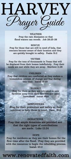 Hurricane Harvey prayer guide