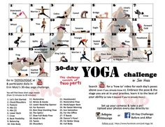 30-Day Yoga Challenge | 30-DAY YOGA CHALLENGE (starting September 1st) Follow us at www ...