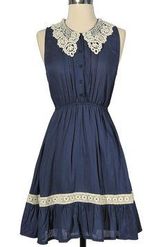 Mary Crochet Collar Dress