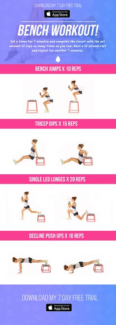 Bench workout by Kayla