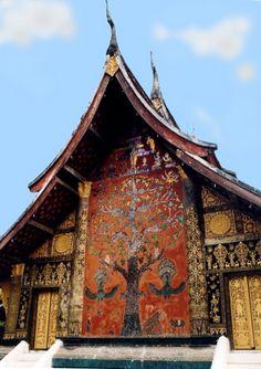 Buddhist Art Mural - Wat Xieng Thong, Laos