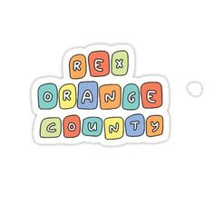 rex orange county colorful bubbles Sticker