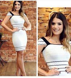 Vestido Piquet Bandagem - Look Store