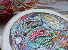 Paisley DIY Embroidery Sampler by dropcloth on Etsy