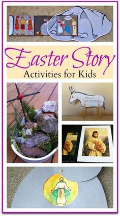 Easter Story Activities for Kids; resurrection crafts and activities!