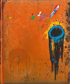 Visit us to license this and other works by John Hoyland. © Estate of John Hoyland. All Rights Reserved, DACS/Artimage Photo: Colin Mills Abstract Shapes, Abstract Art, Post Painterly Abstraction, Cubist Paintings, Art And Craft Design, Funky Art, Abstract Painters, Gcse Art, Art Studies