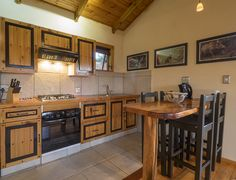 The kitchen/dining area at Cliffhanger Cottage.