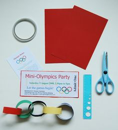 This Olympic Themed Party is GREAT! Tania McCartney: Parties: Let the Games Begin! Mini Olympics Party