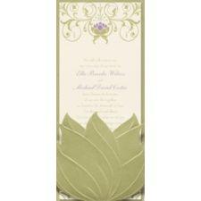 "Invitation ""Princess and the Frog"" Water Lily Wedding Invitation - Tiana"