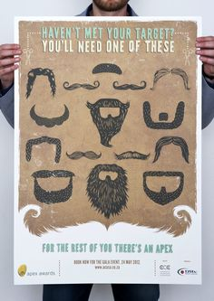 Apex Awards: Facial Hair  Adv Agency: TBWA, South Africa