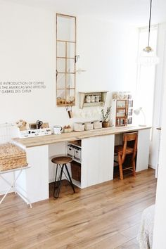 Home Room Design, House Design, Living Room Nook, Design Studio Office, Ikea Home, Workspace Inspiration, House Made, Home Office Decor, Kitchen Interior