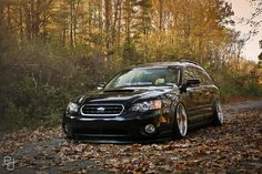 Subaru Legacy. Not normally a Subaru fan, but this looks pretty sweet! Rotiform?