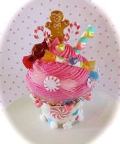 Gingerbread Man Fake Cupcake Candyland by 12LegsCuriosities, $14.50