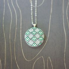 Tokyo Deco cross stitch necklace/ pendant by TheWerkShoppe on Etsy, $44.00: