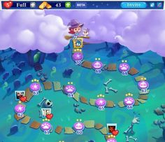 bubble witch saga 2 videos - completed map