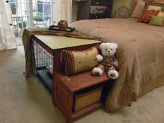 How To Build A Dog Crate Cover/bench Seat