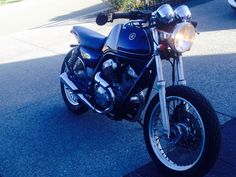My own bike. Yamaha SRV slightly cafe racer part scrambler