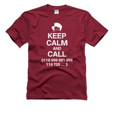 KEEP Calm and Call 0188 999..IT Crowd Shirt Geek meh. by DrTshirt