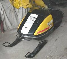Our second snowmobile, a 1972 Ski-doo TNT 340 cc.