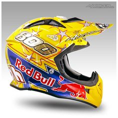 Mike Alessi Red Bull | Axcel Fast Graphics – Custom Helmet Painting and Race Gear