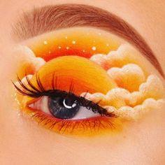 𝕸𝖆𝖐𝖊-𝖚𝖕 𝖎𝖒 𝕾𝖈𝖍𝖑𝖆𝖋 Creative Makeup Looks 𝖍𝖔𝖑𝖑𝖎𝖊 Makeup Eye Looks, Eye Makeup Art, Eye Art, Cute Makeup, Pretty Makeup, Eyeshadow Makeup, Orange Eye Makeup, Makeup Brushes, Crazy Makeup