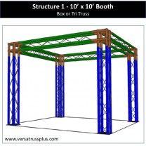 10 x 10 Truss Trade Show Booths  http://versatrussplus.com