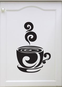 Cup of Cocoa/Coffee  Vinyl Wall Art Decal by VinylWallAccents, $12.00