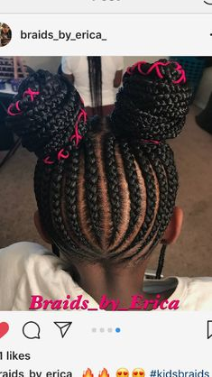 Braids for Kids, 50 Splendid Braid Styles for Girls, The Right Hair styles you can count on. It is quit challenging sometimes when it comes to finding the ri. Birthday Hairstyles, Cool Hairstyles For Girls, Baby Girl Hairstyles, Kids Braided Hairstyles, Trendy Hairstyles, Homecoming Hairstyles, Girl Haircuts, School Hairstyles, Black Hairstyles