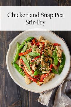 Chicken and Snap Pea Stir-Fry via @PureWow