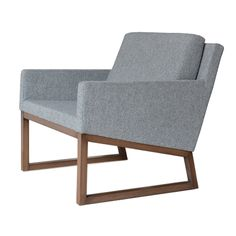 """Nova is a simply designed contemporary occasional chair with a comfortable upholstered seat and backrest. The seat has a steel structure with """"S"""" shape springs for extra flexibility and strength. This steel frame is moulded by injecting polyurethane foam. Nova chair has a back cushion for extra comfort. This occasional chair is offered in chrome and wood bas..."""