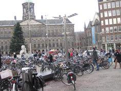 Bikes in Dam Square, #Amsterdam