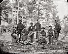 1864 Petersburg, Virginia, group of company D, US engineer battalion