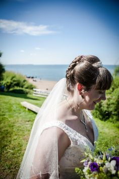 A candid shot of the bride.