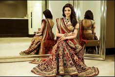 "Tarun Tahiliani Bridal lehenga. For more, follow my ""South Asian Fashion -BRIDAL COUTURE"" board :)"