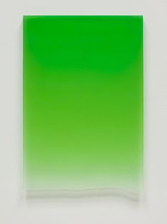 Signal Green Drip, 2011, Polyester Resin, 25 3/4 x 17 3/4 x 1 1/4""