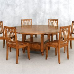 Lifestyle California 31-778 Tuscany Round Storage Dining Table - Home Furniture Showroom