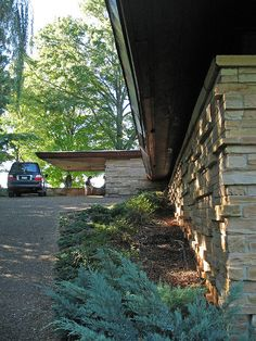 Seamour and Gerte Shavin Residence, Chattanooga, Tennessee. 1950. Usonian Style. Frank Lloyd Wright