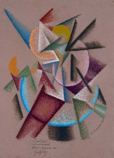 MoMA | Inventing Abstraction | Gino Severini | Futurismo | Mare = Ballerina (Sea = dancer). 1913