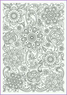 color Doodle Coloring, Mandala Coloring Pages, Coloring Pages To Print, Coloring Book Pages, Printable Coloring Pages, Coloring Sheets, Kids Coloring, Doodle Pattern, Zentangle Patterns