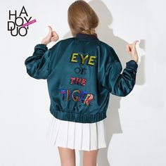 Wholesale Women Eye of The Tiger Sequines Emboridery Jacket Base Ball Style Sport Blazer for Wholesale Haoduoyi1 From m.alibaba.com