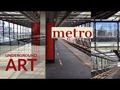 Helsinki metro, underground art, from Ruoholahti to Vuosaari - YouTube