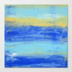 Relaxing Beach Aqua Turquiose Nautical Abstract Art Canvas Print by art-by-lang Canvas Art Prints, Saatchi Art, Original Paintings, Abstract Art, Gallery Wall, Wall Art, Artist, Artwork, Petra
