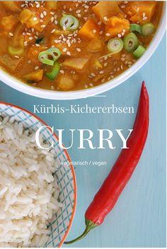 Rezept für Kürbis-Curry mit Kichererbsen, Curry, Winteressen, vegetarisch, vegan