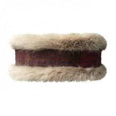 Luxury Beige and Autumn Tweed Headband from Annabel Brocks. Using a luxurious beige faux fur combined with Autumn red and dark green green toned tweeds, this stunning combination can be worn by any age and suits most skin tones. Tweed, Faux Fur, Fashion Accessories, Contemporary Clothing, Slippers, Autumn, Beige, Luxury, Suits