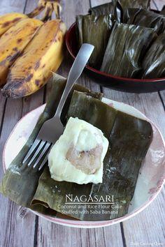 Nagasari – Coconut and Rice Flour Cake Stuffed with Saba Banana