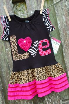 LOVE is in the AIR Tunic/dress 2T to 6 ODOD by littlebitsbylisa
