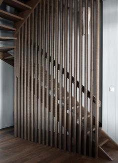 oak wooden stair - alterations to Beach House - Cap Ferret, Gironde, France - Jonathan Tuckey Design
